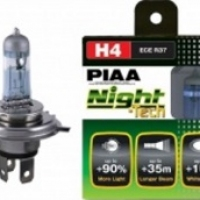 Лампы PIAA NIGHT TECH HE-820 (H4) (3600K), 2шт