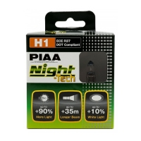 Лампы PIAA NIGHT TECH HE-822 (H1) (3600K), 2шт